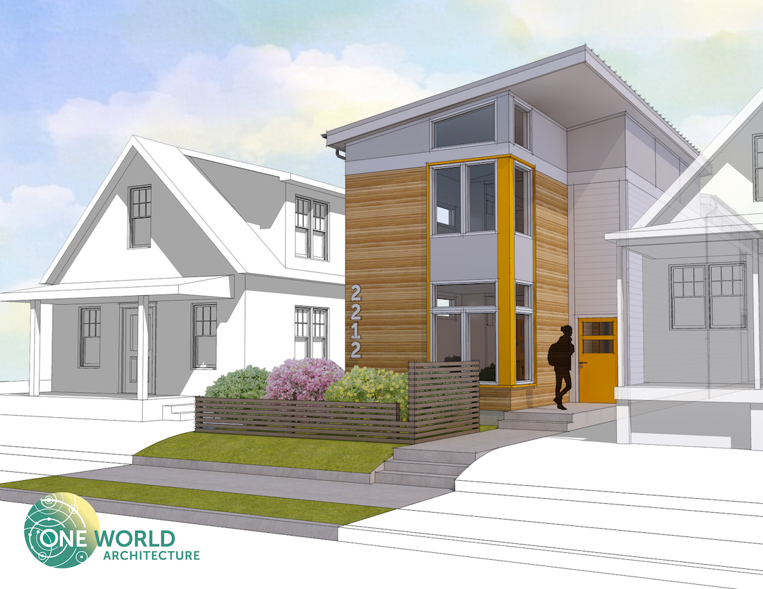 Shotgun Home One World Architecture Green Shotgun House Prototype